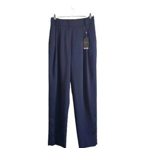 Emporio Armani Wide High Waisted Pleated Trouser Pants